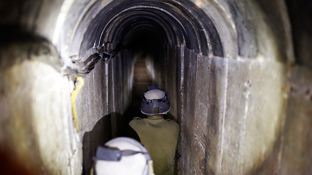 IDF soldiers uncover tunnel from Gaza built to smuggle kidnapped soldiers (Photo: Reuters) (Photo: Reuters)