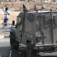 IDF jeep, stone throwers