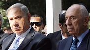 Prime Minister Netanyhau with President Shimon Peres Photo: Ohad Zwigenberg