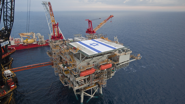 Tamar gas field in Mediterranean Sea (Photo: Albatross Aerial Photography) (צילום: אלבטרוס צילומי אוויר)