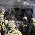 Soldiers near the cave Photo: IDF Spokesperson's Unit