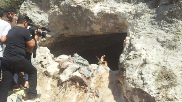 The cave where terrorist hid