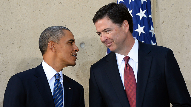 FBI Director James B. Comey with Obama (Photo: AFP)