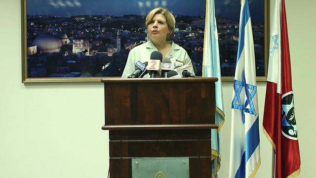 Adjutant General Orna Barvibai at an enlistment meeting in November (Photo: Yaron Brenner)