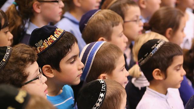 מציינים את ליל הבדולח בבית הספר היהודי בברלין (צילום: Gettyimages)