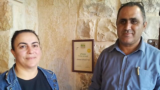 דו-קיום מאז ועד היום. מוחמד מזאל ואשתו בערב אל-ערמשה (צילום: זיו ריינשטיין)