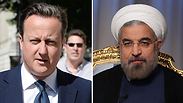 British Prime Minister David Cameron and Iranian President Hassan Rouhani. Photo: EPA, AP