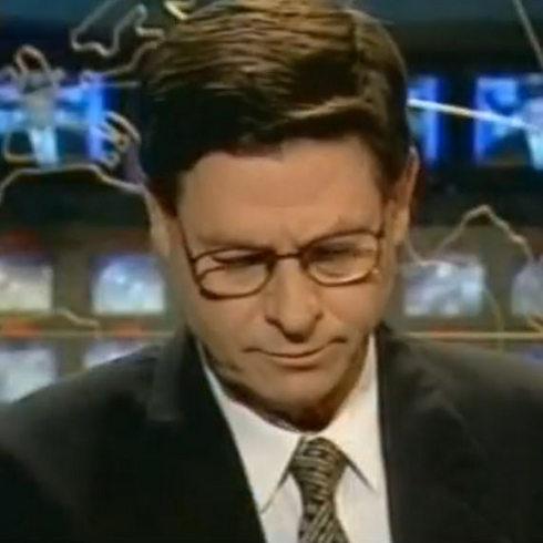 """חיים יבין בליל רצח רבין. """"נקודת מפנה"""" (צילום: ערוץ 1 / רשת)"""