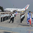 French President Francois Hollande lands in Israel Photo: Motti Kimchi