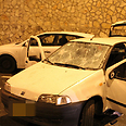 Car attacked by haredim in J'lem Photo: Kikar HaShabbat
