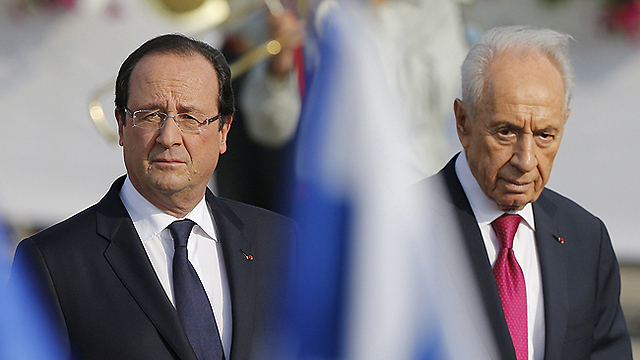 Hollande, Peres (Photo: AFP)
