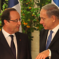 Netanyahu and Hollande. Diplomatic effort Photo: Yoav Dudkevitch
