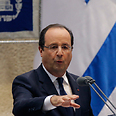 French President Hollande at Knesset Photo: Reuters