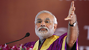 Modi during campaign season Photo: Reuters