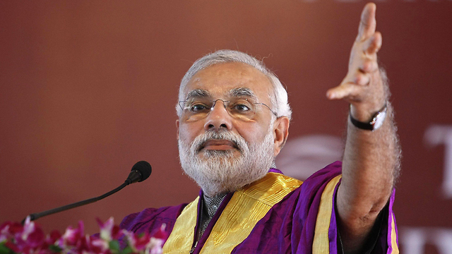 Modi During the his campaign in India (Photo: Reuters)