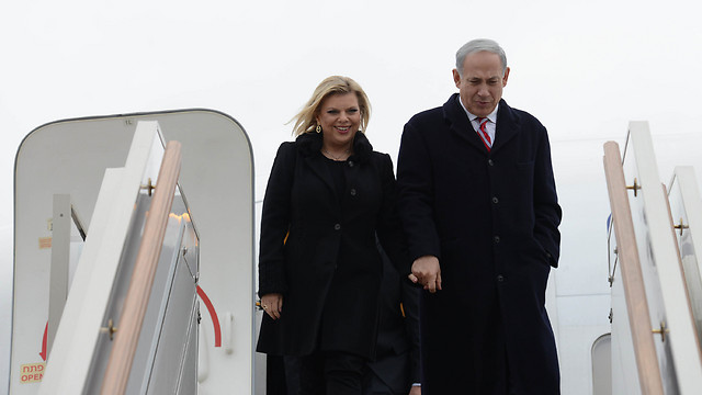 Prime Minister Benjamin Netanyahub and his wife Sara (Photo: Kobi Gideon, GPO)