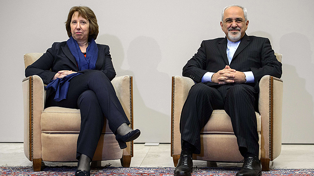 EU foreign policy chief Catherine Ashton and Iran's Foreign Minister Mohammad Javad Zarif (Photo: AFP)