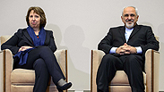 EU Catherine Ashton and Iran's Foreign Minister Mohammad Zarif Photo: AFP