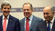 John Kerry, Sergey Lavrov, and Laurent Fabius Photo: AP