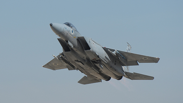 IDF fighter jet during a Blue Flag exercise (Photo: Roee Idan)