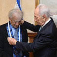Elie Wiesel, Shimon Peres Photo: Mark Neiman, GPO