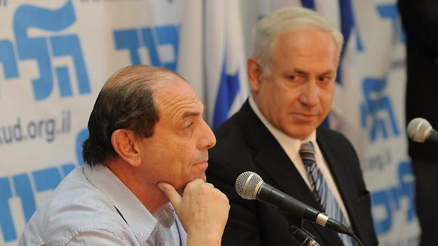Rivlin with Prime Minister Benjamin Netanyahu during Likud primaries (Photo: Yaron Brener)