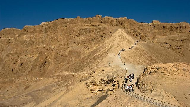 Embankment from which Romans conquered Masada (Photo: Doron Nissim)