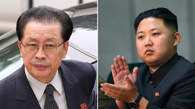 הרודן והדוד. גם הכתבות של ג'אנג סונג תאק נמחקו (צילום: AP, רויטרס)