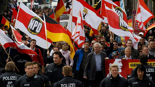 An NDP demonstration in Germany (Photo: Reuters)