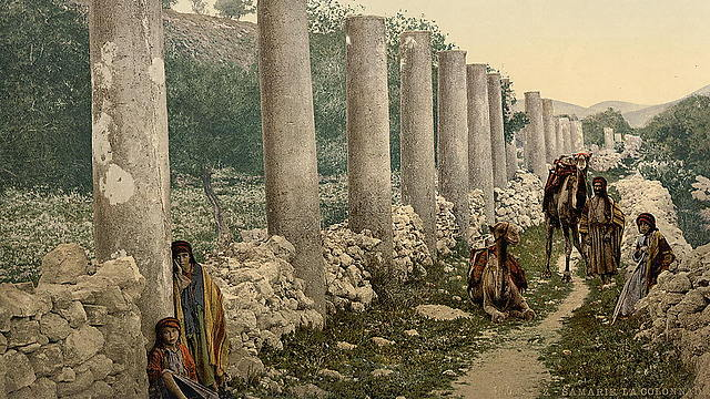 Pillars in ancient Samaria