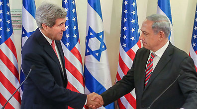 Kerry, Netanyahu (Photo: Noam Moskowitz)