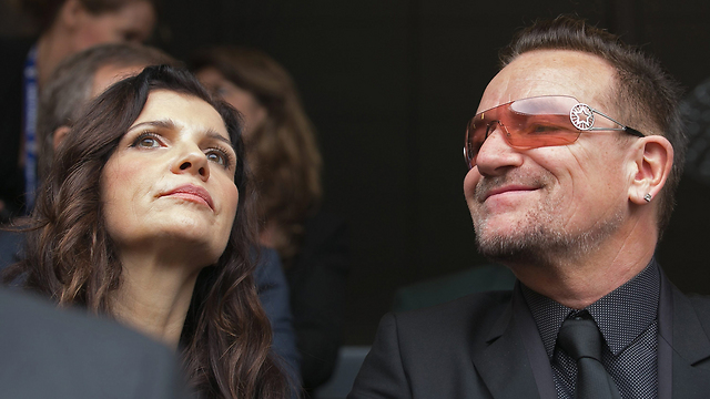 Bono and his wife at the memorial (Photo: Getty Imagebank)