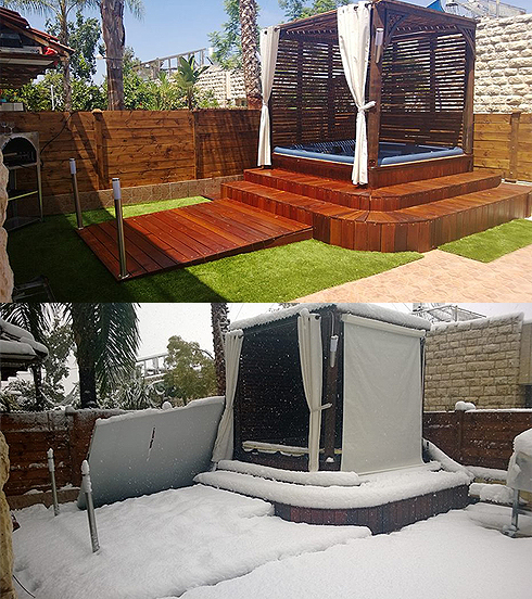 Backyard, before and after (Photo: Avi) Photo: Avi