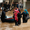 Flooding in Gaza Photo: Reuters