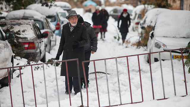 Jerusalem snow (Photo: Ohad Zwigenberg)