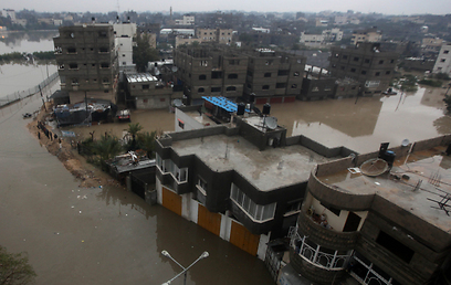 Gaza flooded (Photo: MCT)