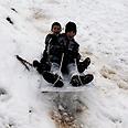 Snow sledders Photo: Reuters