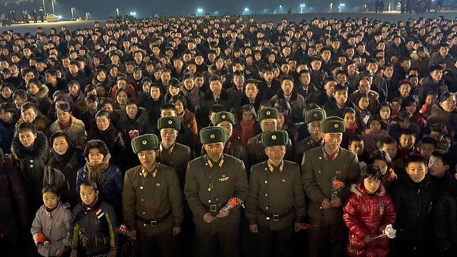 מפגן הכוח בפיונגיאנג (צילום: AP)