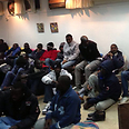 Asylum seekers in Kibbutz Nachshon, Monday night