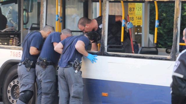 Scene of bus bombing (Photo: Motti Kimchi)