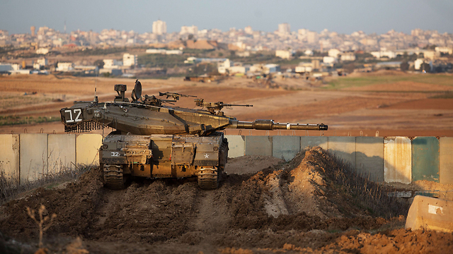 IDF Armored Corps tank near Gaza (Photo: AFP)