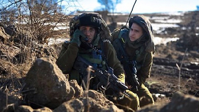 Lt. Col. Liran Hajbi, on the left (Photo: IDF Spokesperson's Unit)