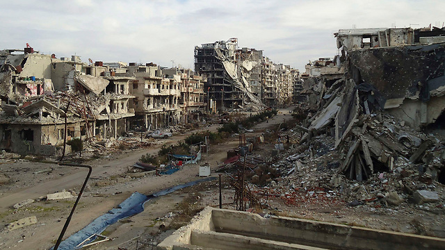 Aftermath of Assad's air force attacks on rebels (Photo: Reuters)