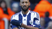 Anelka performing the 'quenelle' in December Photo: AFP