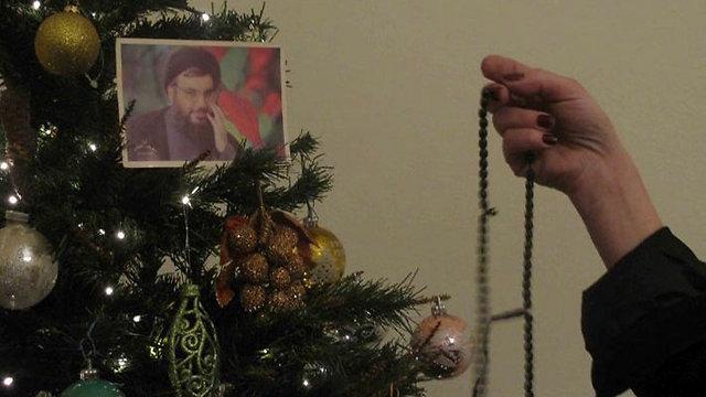 Nasrallah on the Christmas tree