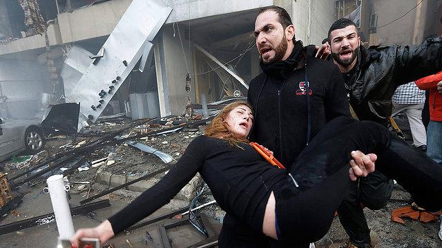Five killed in Beirut blast (Photo: AP)