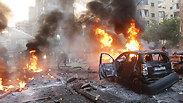 Car bomb explodes in Beirut's Dahiya quarter. 'Instanbility will reach Israeli border' Photo: AFP