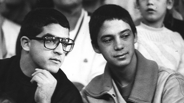 A younger Gilad Sharon (R) with his brother Omri. 'He is not just my brother but also my best friend' (Photo: Shaul Golan)