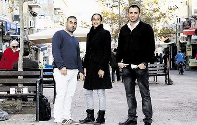 המייסדים. מימין: אמסלם, ארזי ומזרחי (צילום: שלומי כהן)