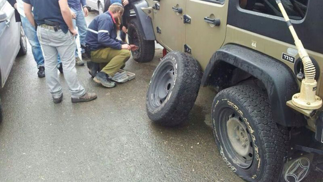 The commanding officer's punctured tires